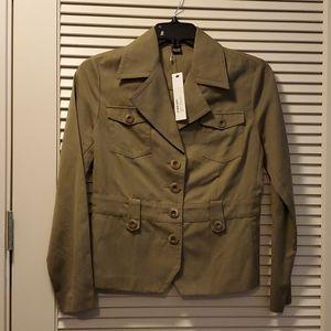 NWT Isda & Co Olive Green Military Blazer